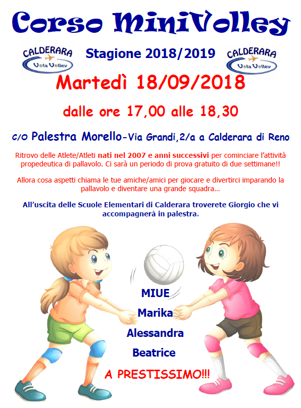 MiniVolley 2018 2019